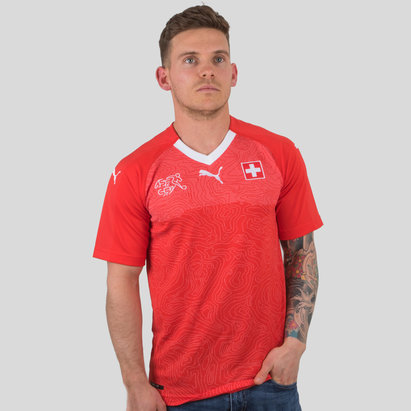 Puma Switzerland 17/18 Home S/S Replica Football Shirt