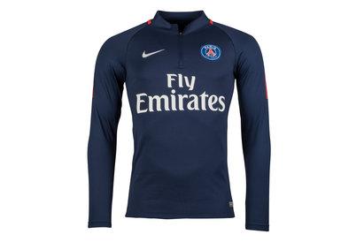 Nike Paris Saint-Germain 17/18 Players Squad Football Drill Top
