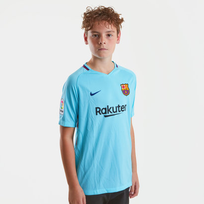 Nike FC Barcelona 17/18 Kids Away Replica S/S Football Shirt