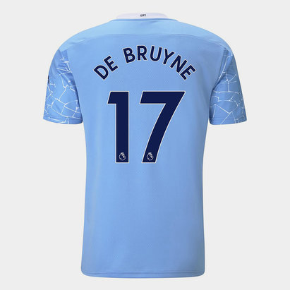 Puma Manchester City Kevin de Bruyne Home Shirt 20/21 Mens