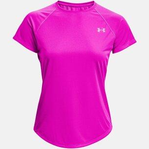 Under Armour Stripe T Shirt Ladies