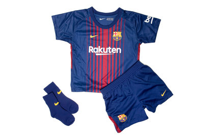 Nike FC Barcelona 17/18 Infants Home Football Kit