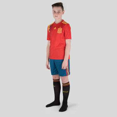adidas Spain 2018 Home Kids Replica Football Kit