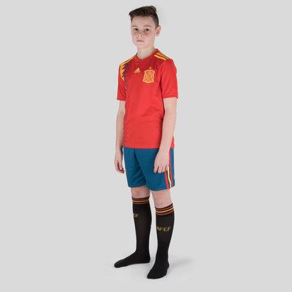 adidas Spain 2018 Home Kids Replica Football Kit