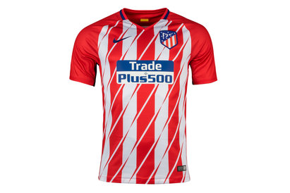 Nike Atletico Madrid 17/18 Home S/S Replica Football Shirt