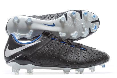 best service 11d3d 609e7 Nike Hypervenom Phantom III Flyknit Pitch Dark FG Football Boots Black
