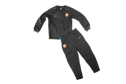 Image of FC Barcelona 17/18 Little Kids Dry Squad Football Tracksuit
