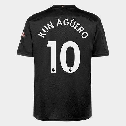 Puma Manchester City Sergio Aguero Away Shirt 20/21 Mens