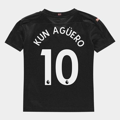 Puma Manchester City Sergio Aguero Away Shirt 20/21 Kids