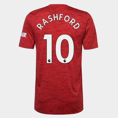 adidas Manchester United Marcus Rashford Home Shirt 20/21 Mens