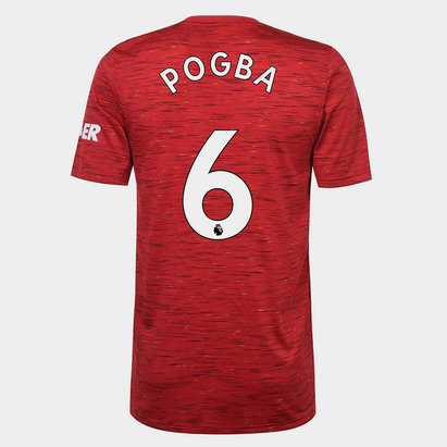 adidas Manchester United Paul Pogba Home Shirt 20/21 Mens