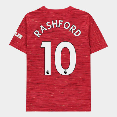 adidas Manchester United Marcus Rashford Home Shirt 20/21 Kids