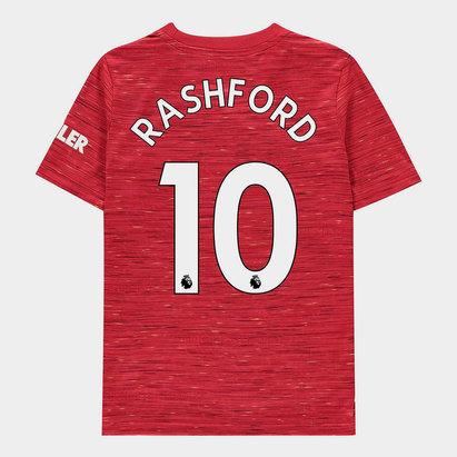 adidas Manchester United Marcus Rashford Home Shirt 20/21 Kids