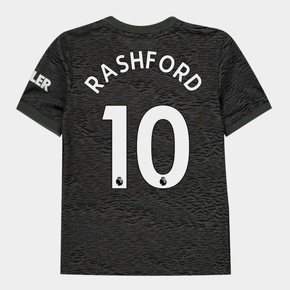 adidas Manchester United Marcus Rashford Away Shirt 20/21 Kids