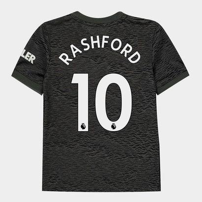 adidas Manchester United Marcus Rashford Away Shirt 20/21 Kids