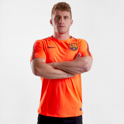 Nike FC Barcelona 17/18 Squad Football Training T-Shirt