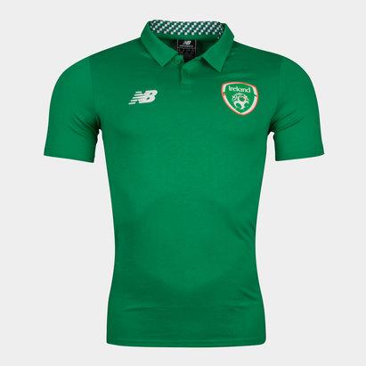 New Balance Republic of Ireland 17 18 Players Football Polo Shirt d790e0353a660