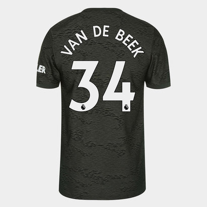 adidas Manchester United Donny Van de Beek Away Shirt 20/21 Mens