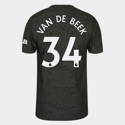 adidas Manchester United Donny Van de Beek Away Shirt 20/21 Mens