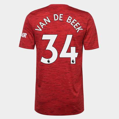 adidas Manchester United Donny Van de Beek Home Shirt 20/21 Mens