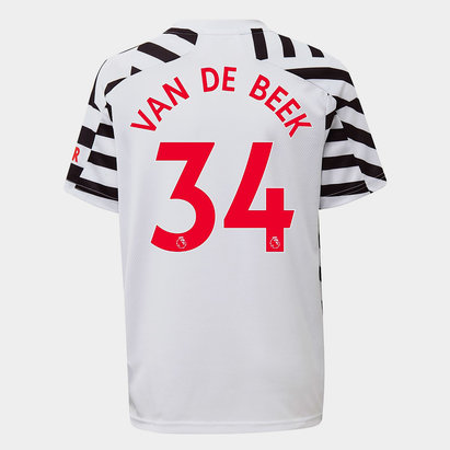 adidas Manchester United Donny Van De Beek Third Shirt 2020 2021 Junior