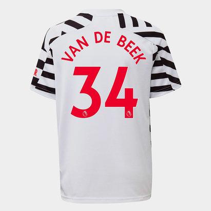 adidas Manchester United Donny Van De Beek Third Shirt 2020 2021 Junior