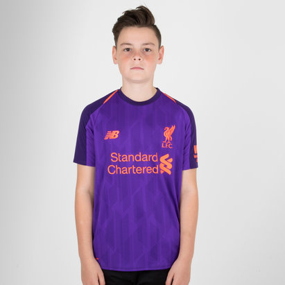 New Balance Liverpool FC 18/19 Away Kids S/S Football Shirt