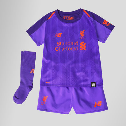 New Balance Liverpool FC 18/19 Away Mini Kids Football Kit