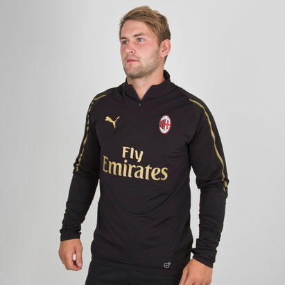Puma AC Milan 18/19 Players 1/4 Zip Football Training Top