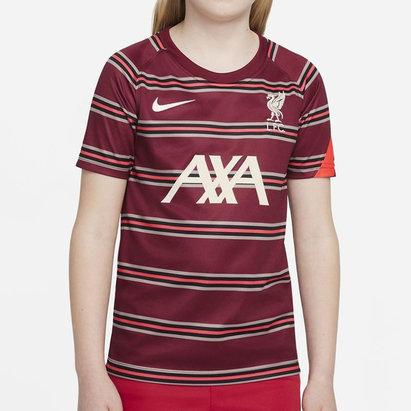 Nike Liverpool Pre Match Shirt 2021 2022 Junior