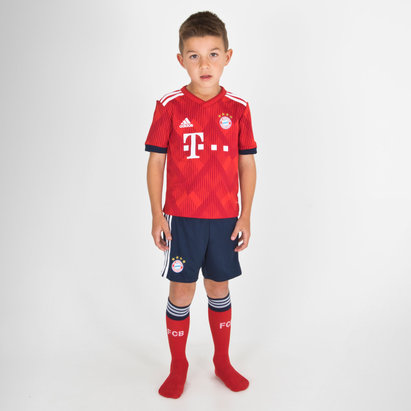 adidas Bayern Munich 17/18 Home Mini Kids Replica Football Kit
