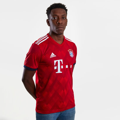 adidas Bayern Munich 18/19 Home S/S Replica Football Shirt