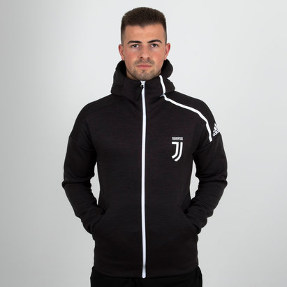 adidas Juventus 18/19 ZNE Full Zip Hooded Football Sweat