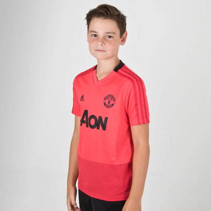 adidas Manchester United 18/19 Kids S/S Football Training Shirt