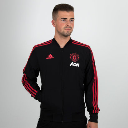 aa6a9974f adidas Manchester United 18 19 Players Football Presentation Jacket