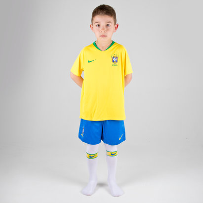 Nike Brazil 2018 Home Mini Kids Replica Football Kit