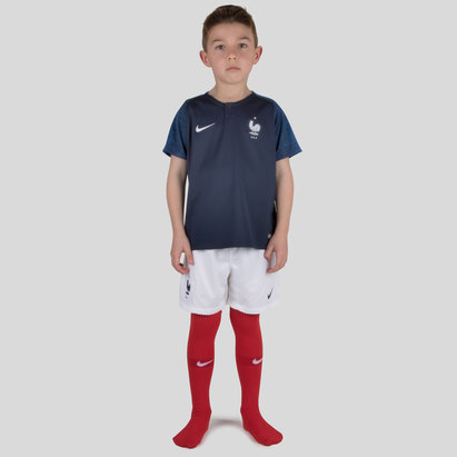Nike France 2018 Home Mini Kids Replica Football Kit