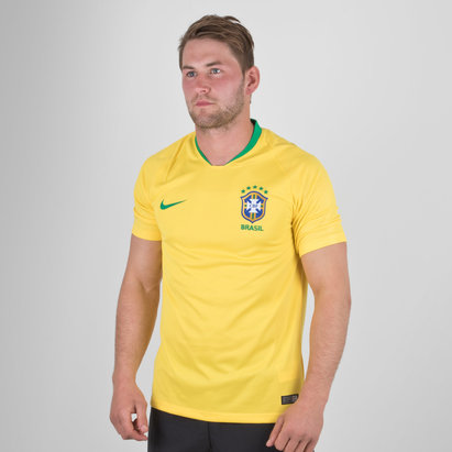 Nike 2018 Brazil CBF Home Mens Jersey