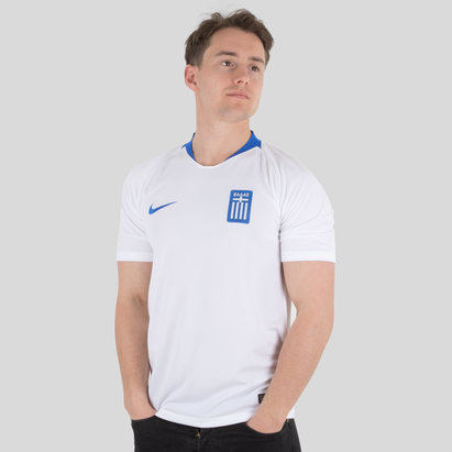 Nike Greece 2018 Home S/S Stadium Football Shirt