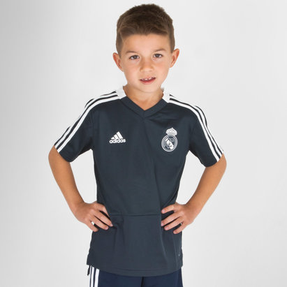 adidas Real Madrid FC 18/19 Kids S/S Football Training Shirt