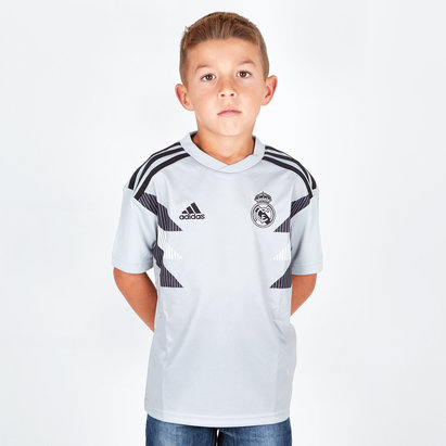 adidas Real Madrid 18/19 Kids Pre-Match Football Training Shirt