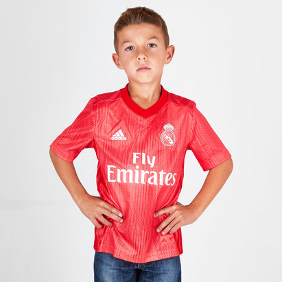 adidas Real Madrid 18/19 3rd Kids S/S Football Shirt