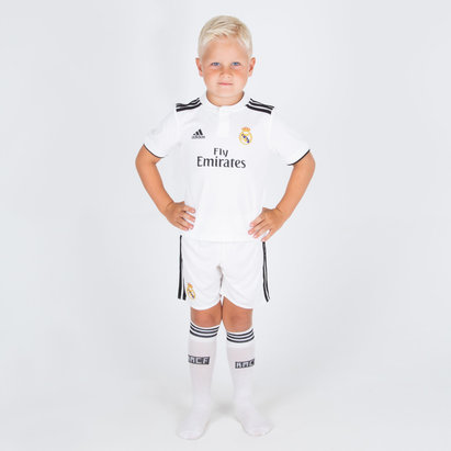 adidas Real Madrid 18/19 Home Mini Kids Replica Football Shirt