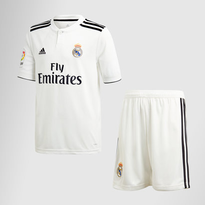 8bf4785cf8 adidas Real Madrid 18/19 Home Kids S/S Football Kit