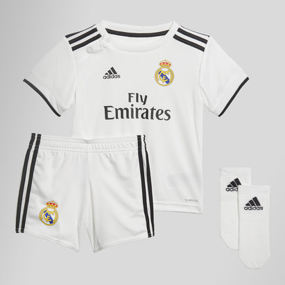 6b9bfe847b2 adidas Real Madrid 18 19 Home Infant S S Football Shirt