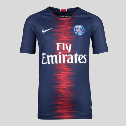 Nike Paris Saint-Germain 18/19 Home Kids S/S Replica Football Shirt