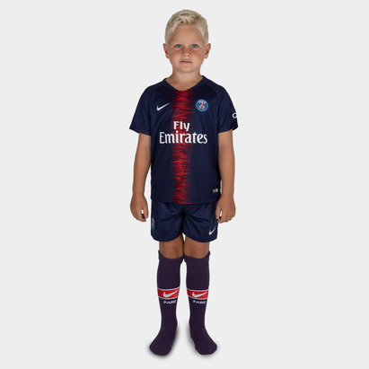 Nike Paris Saint-Germain 18/19 Little Kids Home Football Kit