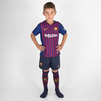 Nike FC Barcelona 18/19 Home Little Kids Football Kit