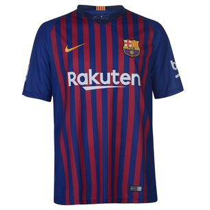 38997a9bb87 Nike FC Barcelona 18 19 Home S S Stadium Football Shirt