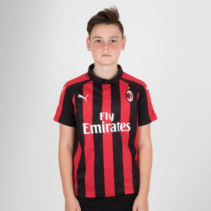 Puma AC Milan 18/19 Home Kids S/S Replica Football Shirt